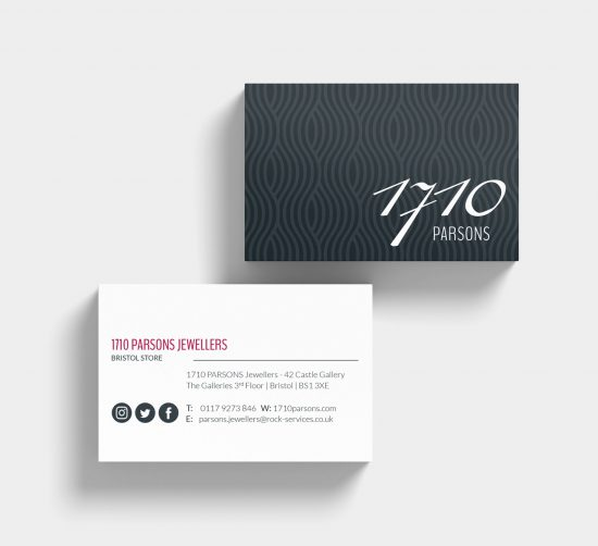 Parsons Jewellers Ltd Business Cards