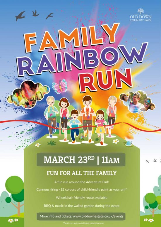Family Rainbow Run at Old Down Estate