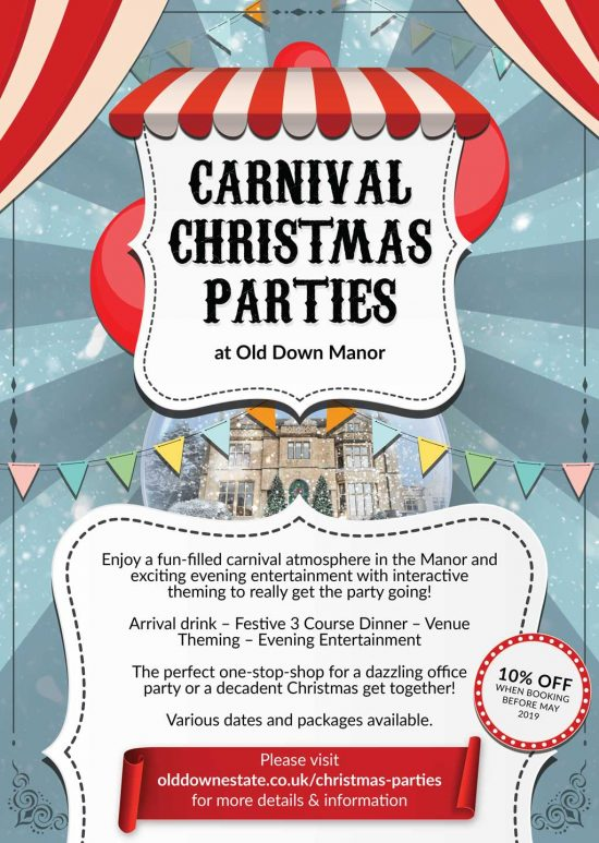 Carnival Christmas Parties at Old Down Estate